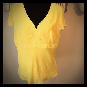 Bob Mackie canary yellow top